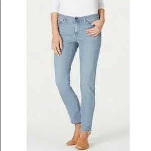 J. Jill 18 Light Wash Authentic Slim Ankle Jeans